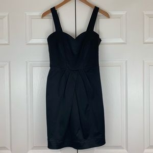 H&M Black Scalloped Strap Button Dress US Size 6